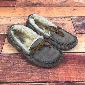 Ugg Women's Dakota Moccasin Slippers Pewter Gray 6